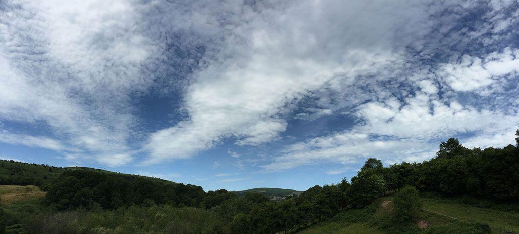 Blue skies do happen in Wales!