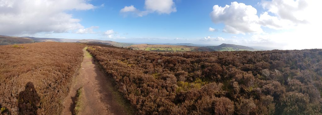 Looking back to Bryn Arw from the Sugar Loaf