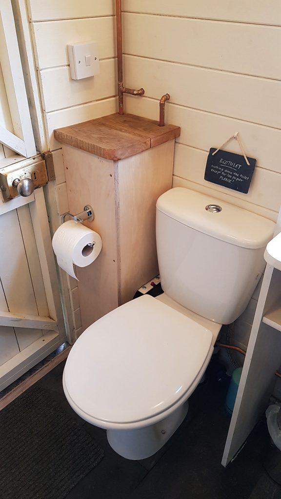 A proper flushing loo!