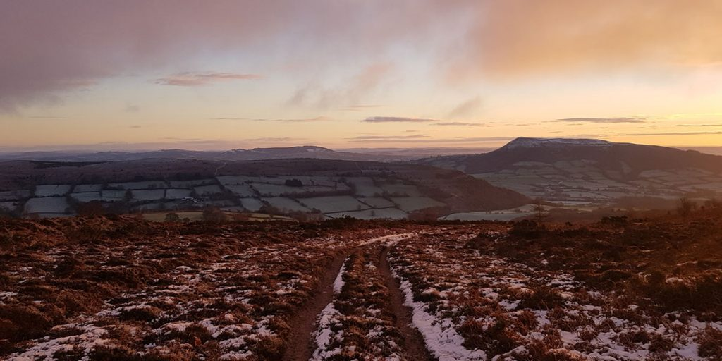 The Skirrid from the Sugar Loaf