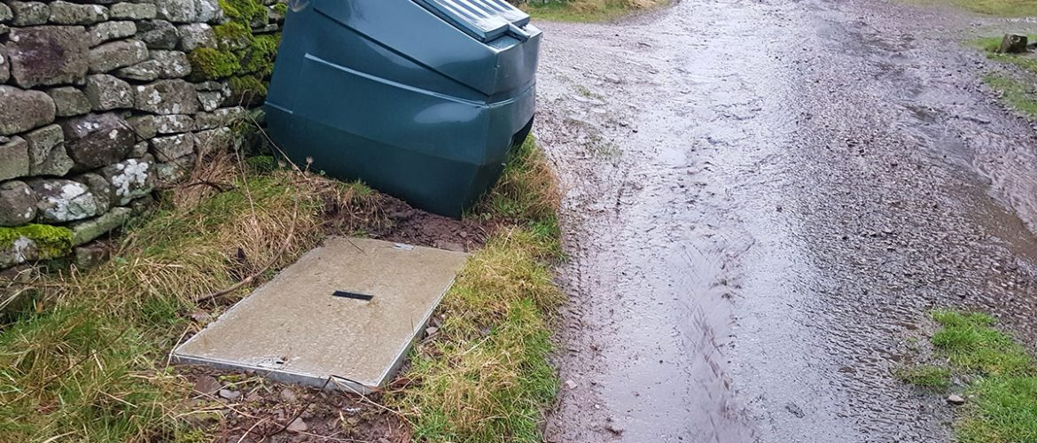 The Grey Box in the road